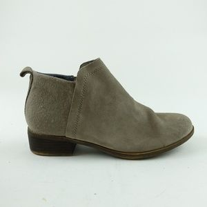 TOMS Women Taupe Suede Deia Ankle Booties R14S12